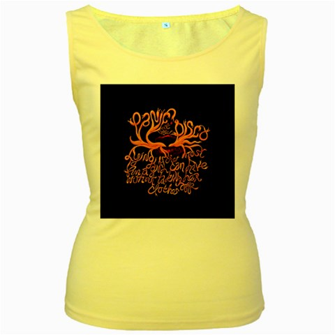Panic At The Disco   Lying Is The Most Fun A Girl Have Without Taking Her Clothes Women s Yellow Tank Top