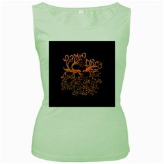 Panic At The Disco   Lying Is The Most Fun A Girl Have Without Taking Her Clothes Women s Green Tank Top