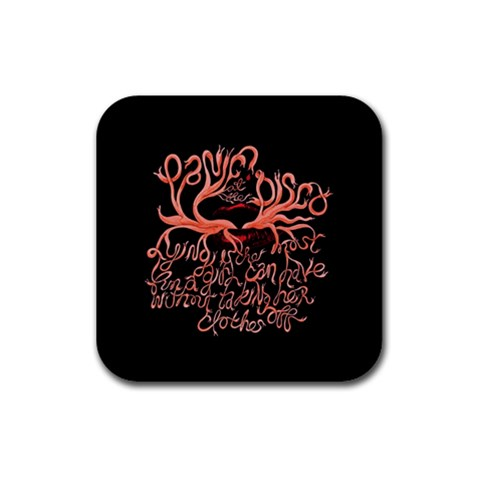 Panic At The Disco   Lying Is The Most Fun A Girl Have Without Taking Her Clothes Rubber Square Coaster (4 pack)