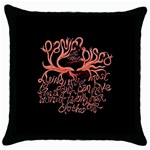 Panic At The Disco   Lying Is The Most Fun A Girl Have Without Taking Her Clothes Throw Pillow Case (Black) Front
