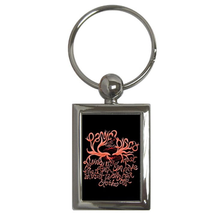 Panic At The Disco   Lying Is The Most Fun A Girl Have Without Taking Her Clothes Key Chains (Rectangle)