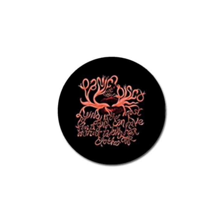 Panic At The Disco   Lying Is The Most Fun A Girl Have Without Taking Her Clothes Golf Ball Marker (4 pack)