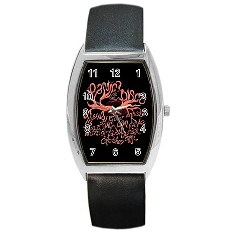 Panic At The Disco   Lying Is The Most Fun A Girl Have Without Taking Her Clothes Barrel Style Metal Watch