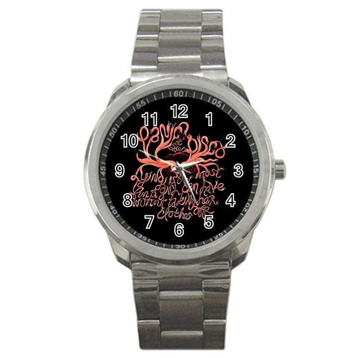 Panic At The Disco   Lying Is The Most Fun A Girl Have Without Taking Her Clothes Sport Metal Watch