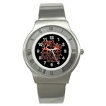 Panic At The Disco   Lying Is The Most Fun A Girl Have Without Taking Her Clothes Stainless Steel Watch Front