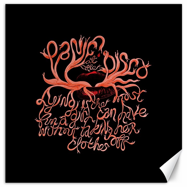 Panic At The Disco   Lying Is The Most Fun A Girl Have Without Taking Her Clothes Canvas 20  x 20