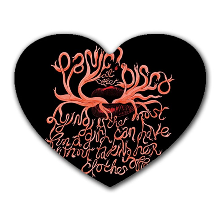Panic At The Disco   Lying Is The Most Fun A Girl Have Without Taking Her Clothes Heart Mousepads