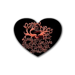 Panic At The Disco   Lying Is The Most Fun A Girl Have Without Taking Her Clothes Heart Coaster (4 pack)