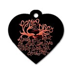 Panic At The Disco   Lying Is The Most Fun A Girl Have Without Taking Her Clothes Dog Tag Heart (One Side) Front