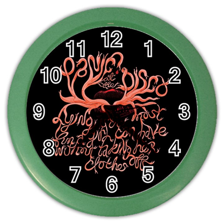 Panic At The Disco   Lying Is The Most Fun A Girl Have Without Taking Her Clothes Color Wall Clocks