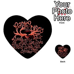 Panic At The Disco   Lying Is The Most Fun A Girl Have Without Taking Her Clothes Multi-purpose Cards (Heart)