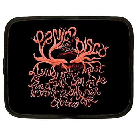Panic At The Disco   Lying Is The Most Fun A Girl Have Without Taking Her Clothes Netbook Case (Large)