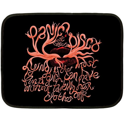 Panic At The Disco   Lying Is The Most Fun A Girl Have Without Taking Her Clothes Double Sided Fleece Blanket (Mini)