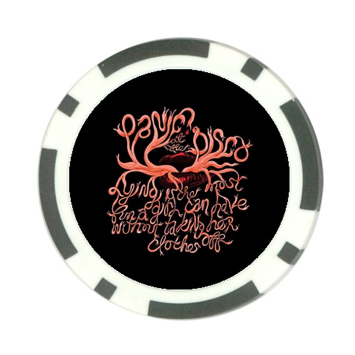 Panic At The Disco   Lying Is The Most Fun A Girl Have Without Taking Her Clothes Poker Chip Card Guards (10 pack)