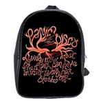 Panic At The Disco   Lying Is The Most Fun A Girl Have Without Taking Her Clothes School Bags(Large)  Front