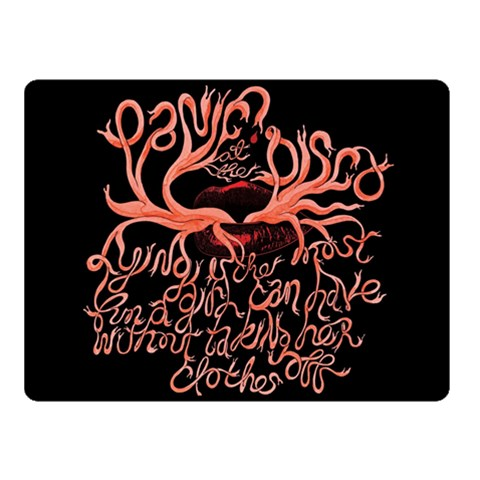 Panic At The Disco   Lying Is The Most Fun A Girl Have Without Taking Her Clothes Fleece Blanket (Small)