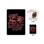 Panic At The Disco   Lying Is The Most Fun A Girl Have Without Taking Her Clothes Playing Cards (Mini)  Back