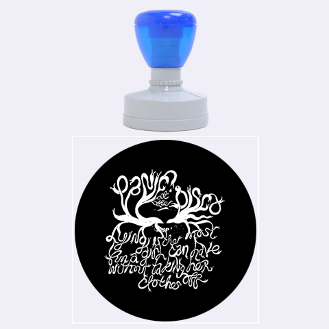 Panic At The Disco   Lying Is The Most Fun A Girl Have Without Taking Her Clothes Rubber Round Stamps (Large)