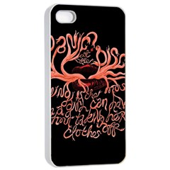 Panic At The Disco   Lying Is The Most Fun A Girl Have Without Taking Her Clothes Apple iPhone 4/4s Seamless Case (White)