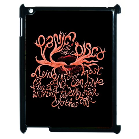 Panic At The Disco   Lying Is The Most Fun A Girl Have Without Taking Her Clothes Apple iPad 2 Case (Black)