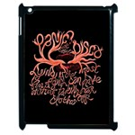 Panic At The Disco   Lying Is The Most Fun A Girl Have Without Taking Her Clothes Apple iPad 2 Case (Black) Front