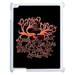 Panic At The Disco   Lying Is The Most Fun A Girl Have Without Taking Her Clothes Apple iPad 2 Case (White) Front
