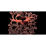 Panic At The Disco   Lying Is The Most Fun A Girl Have Without Taking Her Clothes Twin Hearts 3D Greeting Card (8x4) Back
