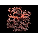 Panic At The Disco   Lying Is The Most Fun A Girl Have Without Taking Her Clothes Ribbon 3D Greeting Card (7x5) Back