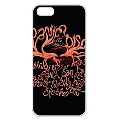 Panic At The Disco   Lying Is The Most Fun A Girl Have Without Taking Her Clothes Apple iPhone 5 Seamless Case (White)