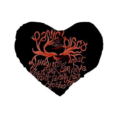 Panic At The Disco   Lying Is The Most Fun A Girl Have Without Taking Her Clothes Standard 16  Premium Heart Shape Cushions