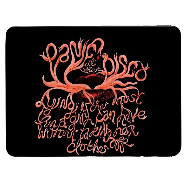 Panic At The Disco   Lying Is The Most Fun A Girl Have Without Taking Her Clothes Samsung Galaxy Tab 7  P1000 Flip Case
