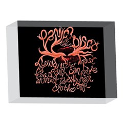 Panic At The Disco   Lying Is The Most Fun A Girl Have Without Taking Her Clothes 5 x 7  Acrylic Photo Blocks