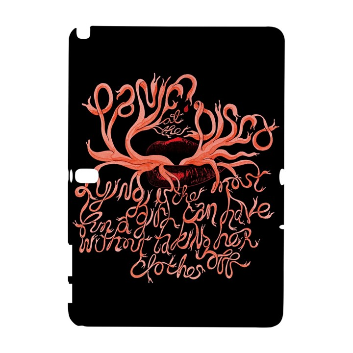 Panic At The Disco   Lying Is The Most Fun A Girl Have Without Taking Her Clothes Samsung Galaxy Note 10.1 (P600) Hardshell Case