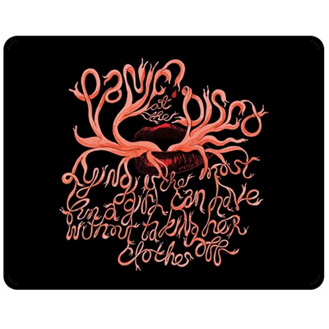 Panic At The Disco   Lying Is The Most Fun A Girl Have Without Taking Her Clothes Double Sided Fleece Blanket (Medium)