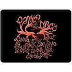 Panic At The Disco   Lying Is The Most Fun A Girl Have Without Taking Her Clothes Double Sided Fleece Blanket (Large)  80 x60 Blanket Back