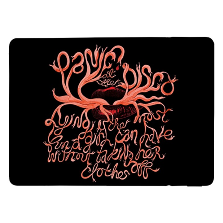 Panic At The Disco   Lying Is The Most Fun A Girl Have Without Taking Her Clothes Samsung Galaxy Tab Pro 12.2  Flip Case