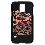 Panic At The Disco   Lying Is The Most Fun A Girl Have Without Taking Her Clothes Samsung Galaxy S5 Case (Black) Front