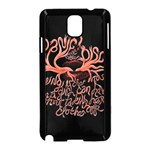Panic At The Disco   Lying Is The Most Fun A Girl Have Without Taking Her Clothes Samsung Galaxy Note 3 Neo Hardshell Case (Black) Front