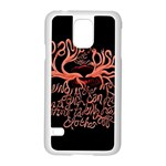 Panic At The Disco   Lying Is The Most Fun A Girl Have Without Taking Her Clothes Samsung Galaxy S5 Case (White) Front
