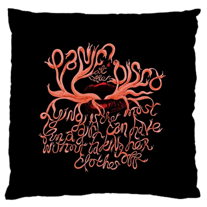 Panic At The Disco   Lying Is The Most Fun A Girl Have Without Taking Her Clothes Large Flano Cushion Case (One Side)