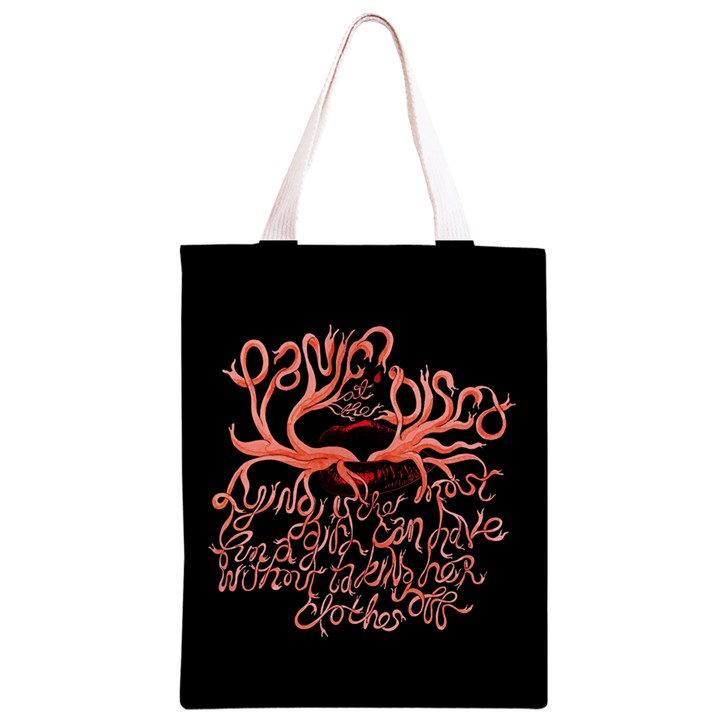 Panic At The Disco   Lying Is The Most Fun A Girl Have Without Taking Her Clothes Classic Light Tote Bag