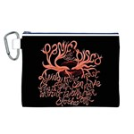 Panic At The Disco   Lying Is The Most Fun A Girl Have Without Taking Her Clothes Canvas Cosmetic Bag (L) Front