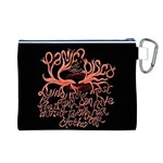 Panic At The Disco   Lying Is The Most Fun A Girl Have Without Taking Her Clothes Canvas Cosmetic Bag (L) Back