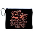Panic At The Disco   Lying Is The Most Fun A Girl Have Without Taking Her Clothes Canvas Cosmetic Bag (XL) Front