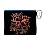 Panic At The Disco   Lying Is The Most Fun A Girl Have Without Taking Her Clothes Canvas Cosmetic Bag (XL) Back