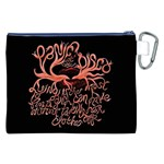 Panic At The Disco   Lying Is The Most Fun A Girl Have Without Taking Her Clothes Canvas Cosmetic Bag (XXL) Back