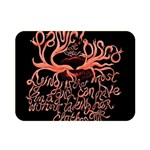 Panic At The Disco   Lying Is The Most Fun A Girl Have Without Taking Her Clothes Double Sided Flano Blanket (Mini)  35 x27 Blanket Back