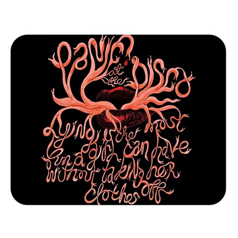 Panic At The Disco   Lying Is The Most Fun A Girl Have Without Taking Her Clothes Double Sided Flano Blanket (Large)