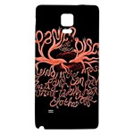 Panic At The Disco   Lying Is The Most Fun A Girl Have Without Taking Her Clothes Galaxy Note 4 Back Case Front