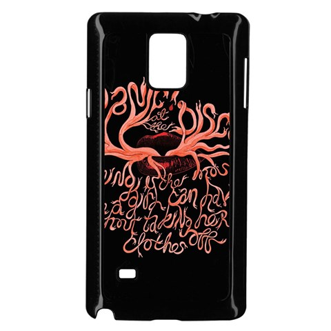 Panic At The Disco   Lying Is The Most Fun A Girl Have Without Taking Her Clothes Samsung Galaxy Note 4 Case (Black)